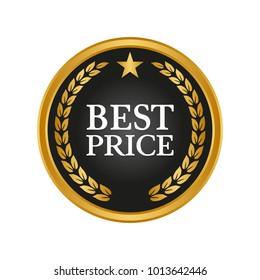 Best price label on white background. Vector illustration