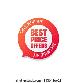 Best Price Offers Round Shopping Label