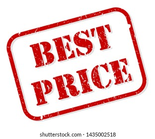 Best price red rubber stamp vector isolated