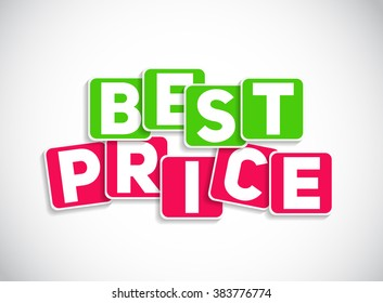 best price sign template illustration stock illustration 484575811