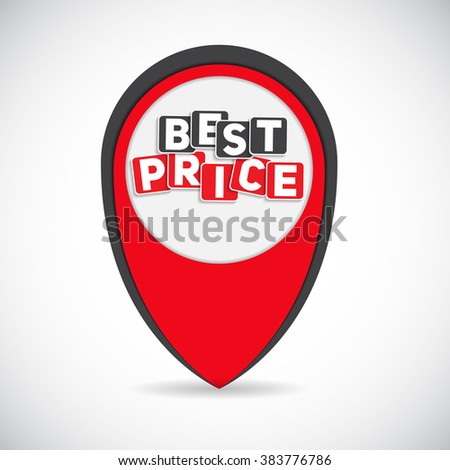 best price sign template vector illustration stock vector royalty