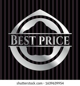 Best Price silver emblem. Vector Illustration. Mosaic.