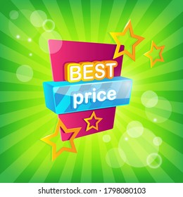 Best Price Tag with Colorful Elements - Eps 10