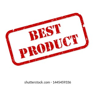 Best product red rubber stamp vector isolated