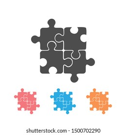 Best puzzle icon set. Vector illustration