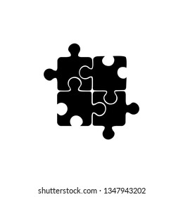 Best puzzle icon. Vector illustration