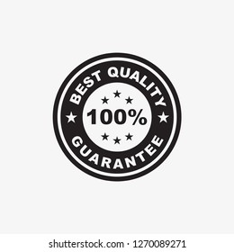 best quality guarantee stamp icon template in black color