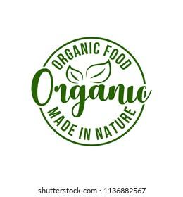 Best quality healthy food logo. Premium quality, vegan, green life, organic products. Calligraphy, logo