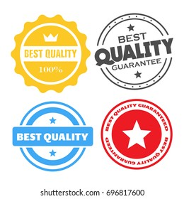 Best quality stamps, stickers vector illustration collection. Value certificate stamps.