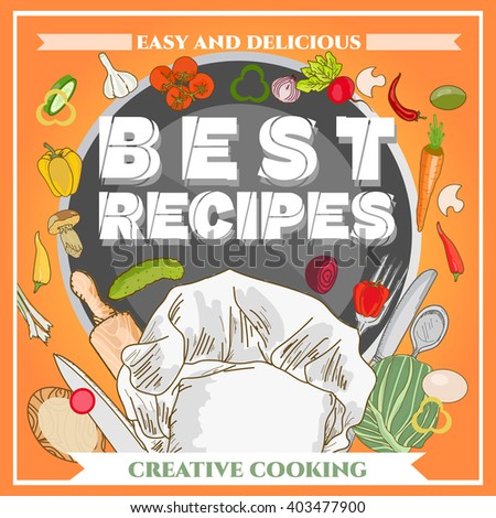 best recipe poster template cookbook cookery stock vector royalty