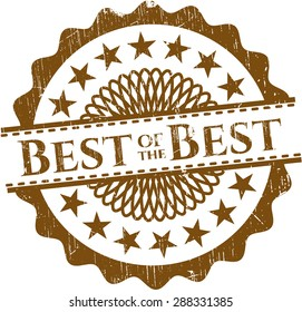 Best of the Best rubber grunge stamp