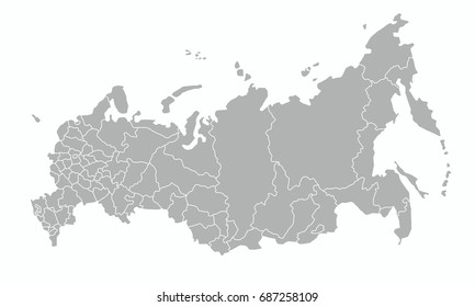 best Russia country map outline vector