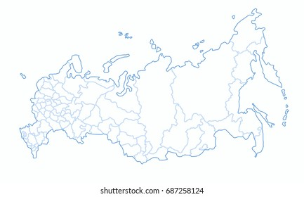 Russia Map Images Stock Photos Vectors Shutterstock