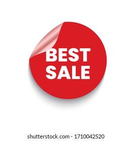 Best sale labels, Sale sticker. Eps10 vector illustration.
