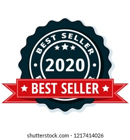 Best Seller 2020 label illustration