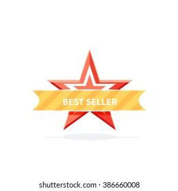 Best seller badge design flat banner mark illustration