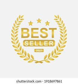 Best seller badge icon logo design template. vector Illustration
