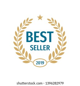Best seller badge logo design.