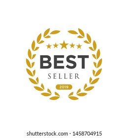 Best seller badge logo design. Best seller vector isolated