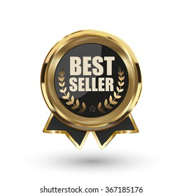 Best seller badge. Vector illustration.