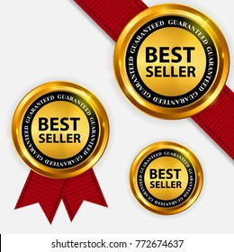 Best Seller collection Set Label. Vector Illustration EPS10