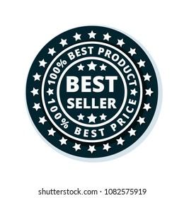 Best Seller label illustration
