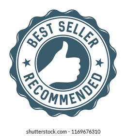 Best seller recommended label/stamp