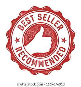 Best seller recommended label/stamp