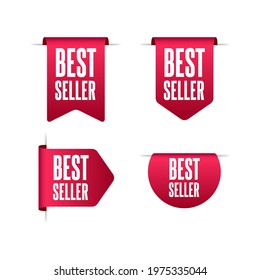Best Seller Shopping Vector Labels Set