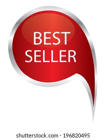 Best seller sign icon. speech bubble