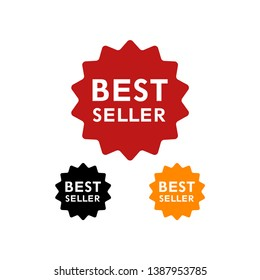 Best seller sign icon Vector. Best seller award symbol. Stars stickers. Certificate emblem labels. - Illustration