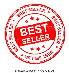 best seller stamp,vector illustration