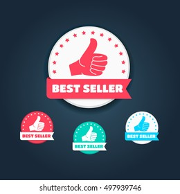 Best Seller Thumbs Up Labels