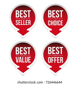 Best seller, Best value, Best choice