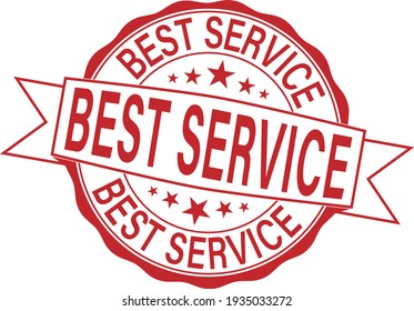 Best service grunge rubber stamp on white, vector illustration