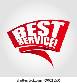 Best service! label banner