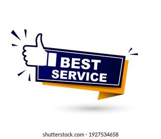 best service label. best service red banner sign. best service