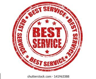 Best service stamp,vector illustration