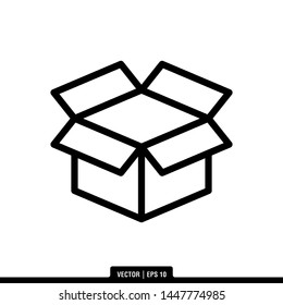 The best of Shipping Box icon vector, illustration logo template in trendy style. Suitable for many purposes.