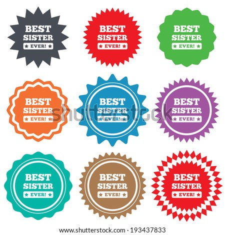 best sister ever sign icon award stock vector royalty free