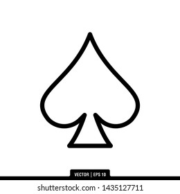 The best of Spade Ace Card icon vector, illustration logo template in trendy style. Suitable for many purposes.