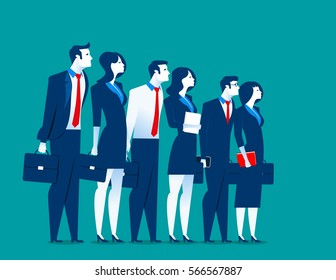 Best special business team. Concept business illustration. Vector flat
