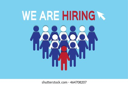 best suited employee. choose one by the recruiter. HR job seeking concepts.