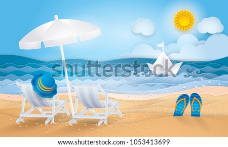 2d1434f9f Best Summer Holiday Background Sand Sea Stock Vector (Royalty Free ...
