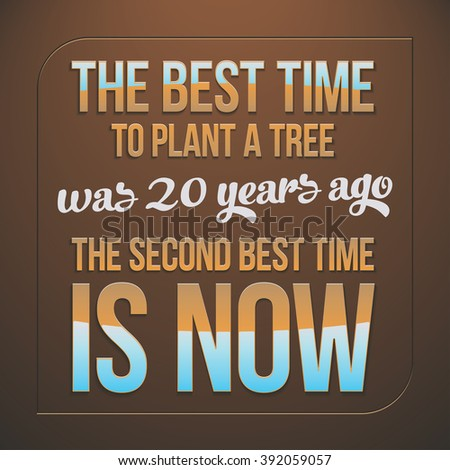 Best Time Plant Tree 20 Years Stock Vector Royalty Free 392059057