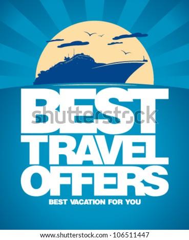 Best Travel Offers Advertising Design Template Image Vectorielle De