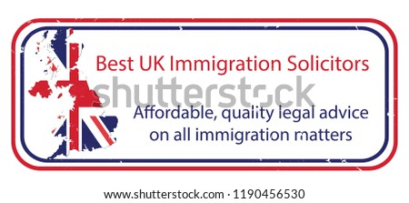 Best UK Immigration Solicitors Stamp Label Stock Vector