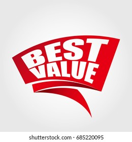 Best value labels banners