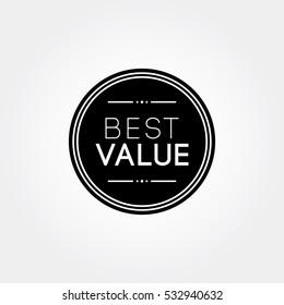 best value tag label black