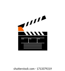 best vector design clap board isolated white